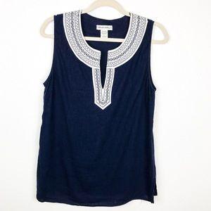 😄 Telluride Clothing Co Linen Sleeveless Top | L